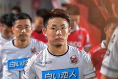 Suga Daiki de Consadole Sapporo en el International Footbal de Bangkok Fotos de archivo libres de regalías