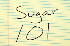 Free Sugar 101 On A Yellow Legal Pad Royalty Free Stock Image - 97986946
