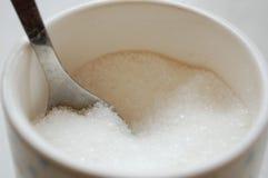 Sugar. Close up macro image of a sugar pot Stock Image