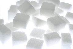 Sugar. Cubes on light box Royalty Free Stock Photography