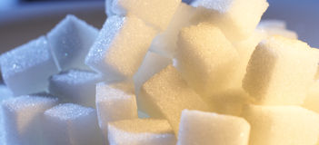 Sugar. White sugar in cool and warm light Stock Photo