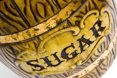 Sugar. Antique ceramic sugar jar Stock Image
