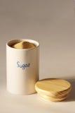 Sugar. Jar stock photo