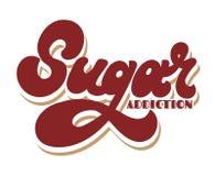 Sugar Addiction Rotula??o tirada m?o do vetor isolada ilustração do vetor