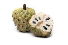 Sugar Apple-Annone, Annona, Sweetsop auf weißem Hintergrund Lizenzfreies Stockbild