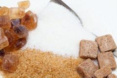 Sugar assortment Stock Images