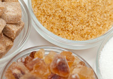 Sugar assortment Stock Photo