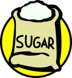 Sugar bag. Illustration of a sugar bag Stock Images