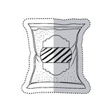 sugar bag design. Sugar bag icon. Dessert sweet candy food and organic theme.  design. Vector illustration Royalty Free Stock Photography