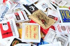 Sugar bags Royalty Free Stock Photo