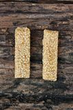 Sugar bar with sesame and peanut Royalty Free Stock Images