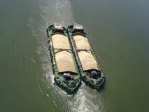 Sugar Barge. Photo of sugar barges at Penang, Malaysia Stock Photo