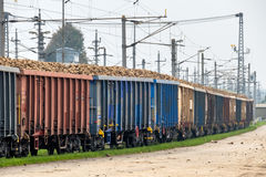 Sugar beet and freight Royalty Free Stock Photo