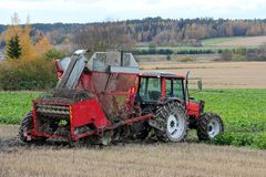 Sugar Beet Harvester Stock Images