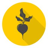 Sugar beet icon with long shadow Royalty Free Stock Image