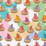 Sugar biscuit seamless pattern. Illustration abstract old style sugar biscuit seamless pattern texture colorful background wallpaper element graphic Royalty Free Stock Photo