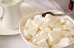 Sugar in a bowl Stock Image