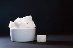Sugar Bowl On Dark Imagens de Stock