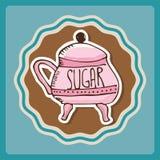 Sugar bowl Royalty Free Stock Photography