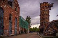 Sugar bowl. Left factory turned into garden I publish Valladolid Spain Stock Photos