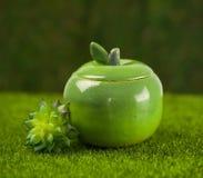 Sugar bowl made of clay Stock Images