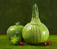 Sugar bowl made of clay Stock Photos