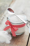 Sugar bowl with spoon on  table Stock Photography