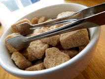 Sugar Bowl & Tongs Stock Photo