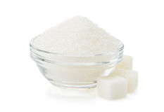 Sugar in bowl Stock Photography