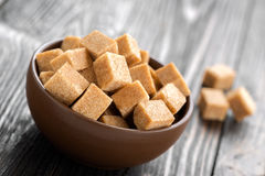 Sugar. Brown cane sugar in a bowl Royalty Free Stock Photo