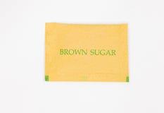 Sugar brown packet Royalty Free Stock Photo