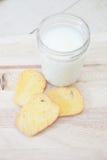 Sugar Butter Toast mit Milch Lizenzfreies Stockbild