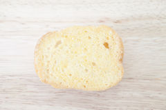 Sugar Butter Toast on Wood Background Stock Image