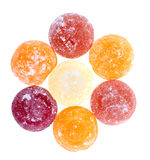 Sugar candies. On white background Royalty Free Stock Photos
