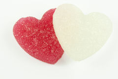 Sugar candies. In the shape of heart Royalty Free Stock Photos