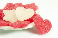 Sugar candies. In the shape of heart and star Royalty Free Stock Image