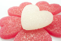 Sugar candies. In the shape of heart Royalty Free Stock Image