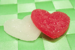 Sugar candies. In the shape of heart Stock Photos