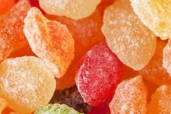 Sugar candies in different colors Stock Photography