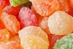 Sugar candies in different colors Royalty Free Stock Photos