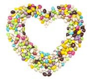 Sugar candies in the form of heart Royalty Free Stock Images