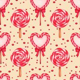 Sugar candies seamless background Stock Images