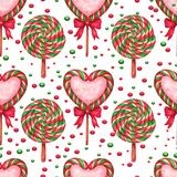 Sugar candies seamless background Royalty Free Stock Image
