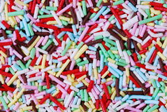 Sugar candy background. Colored mixture of sugar candy background royalty free stock image