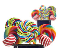 Sugar candy cane lollipop collection Stock Photo