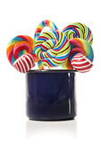 Sugar candy cane lollipop collection Stock Image