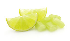 Sugar candy with lime Royalty Free Stock Images