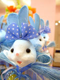 Sugar Candy Rabbits. Candy Rabbits made of sugar in a row in a shop Royalty Free Stock Photo