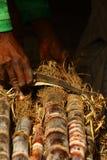 Black Sugar Cane Knife stock images