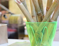 Sugar cane on the bar Stock Photo